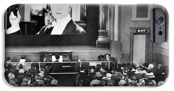 Interior Scene iPhone Cases - MOVIE THEATER, 1920s iPhone Case by Granger
