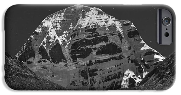 Mt. Kailash In Moonlight IPhone 6 Case by Hitendra SINKAR