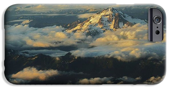 States iPhone Cases - Mt Rainier iPhone Case by Caterina Frank