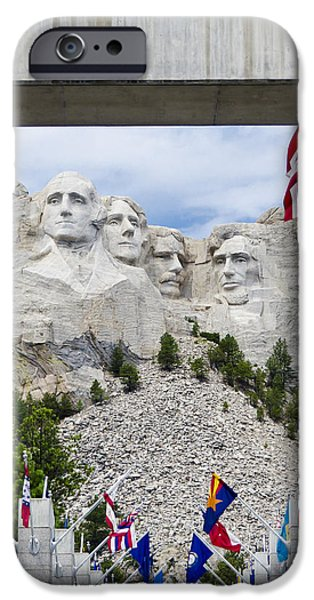 Mount Rushmore iPhone Cases - Mt Rushmore Entrance iPhone Case by Jon Berghoff