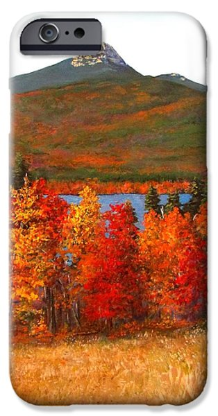 Mt Chocorua iPhone Cases - Mt.Chocorua iPhone Case by Jack Skinner