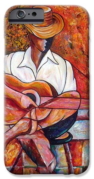Cuba iPhone Cases - My Guitar iPhone Case by Jose Manuel Abraham