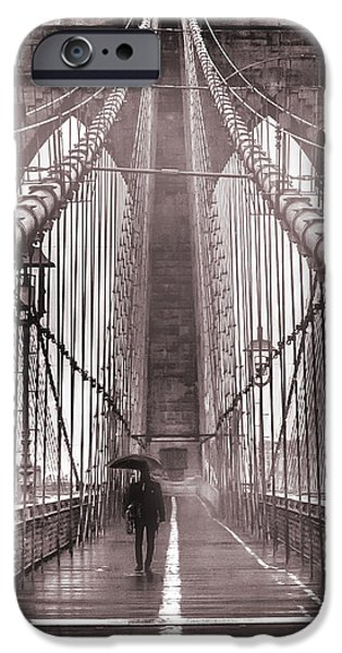 Sepia iPhone 6 Case - Mystery Man Of Brooklyn by Az Jackson