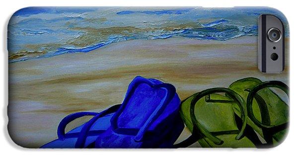 3f25cd841b94 The Flop iPhone 6 Case - Naked Feet On The Beach by Patti Schermerhorn