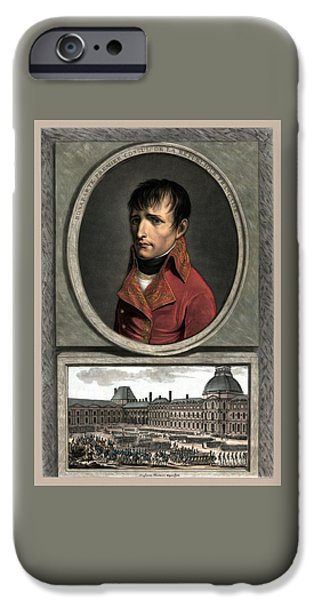 Emperor iPhone Cases - Napoleon Bonaparte And Troop Review iPhone Case by War Is Hell Store