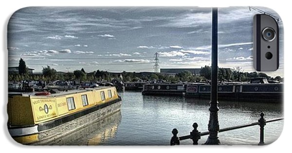 Sky iPhone 6 Case - Narrowboat Idly Dan At Barton Marina On by John Edwards
