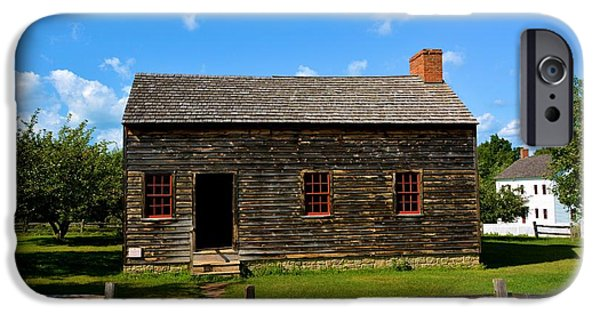 Cabin Window iPhone Cases - Nathaniel Rochester House iPhone Case by Richard Jenkins