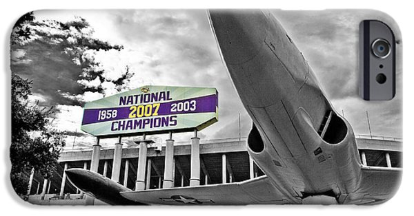 Lsu iPhone Cases - National Champions iPhone Case by Scott Pellegrin