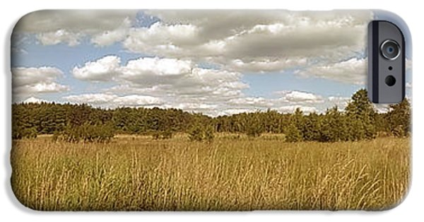 Natural Meadow Landscape Panorama. IPhone 6 Case
