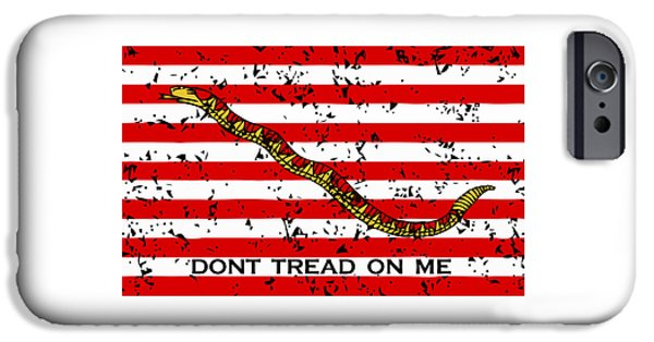 American Mixed Media iPhone Cases - Navy Jack Flag iPhone Case by War Is Hell Store