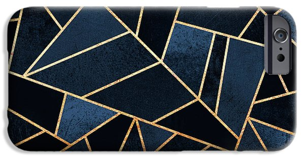 Blue iPhone 6 Case - Navy Stone by Elisabeth Fredriksson
