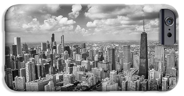 IPhone 6 Case featuring the photograph Near North Side And Gold Coast Black And White by Adam Romanowicz