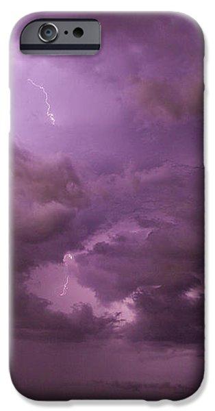 Nebraskasc iPhone 6 Case - Nebraska Night Thunderstorm Beast 001 by NebraskaSC