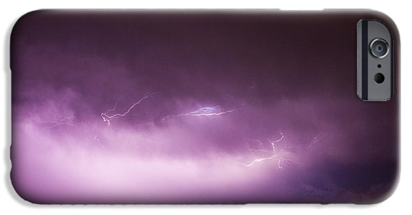 Nebraskasc iPhone 6 Case - Nebraska Night Thunderstorms 013 by NebraskaSC