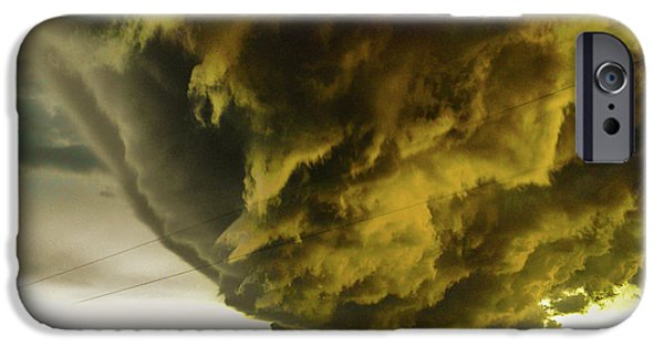 Nebraskasc iPhone 6 Case - Nebraska Supercell, Arcus, Shelf Cloud, Remastered 018 by NebraskaSC