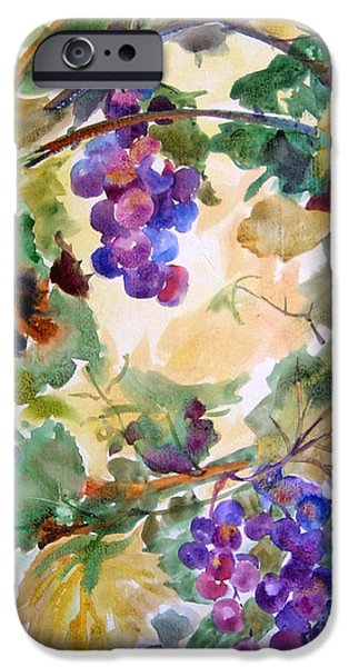 Flora Mixed Media iPhone Cases - Neighborhood Grapevine iPhone Case by Kathy Braud