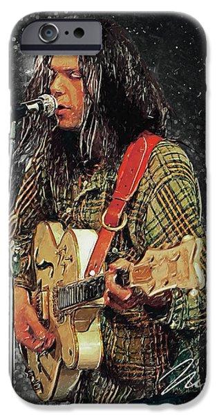 Folk Art iPhone 6 Case - Neil Young by Zapista