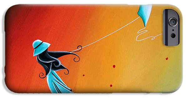 Flight Paintings iPhone Cases - Never Let go iPhone Case by Cindy Thornton