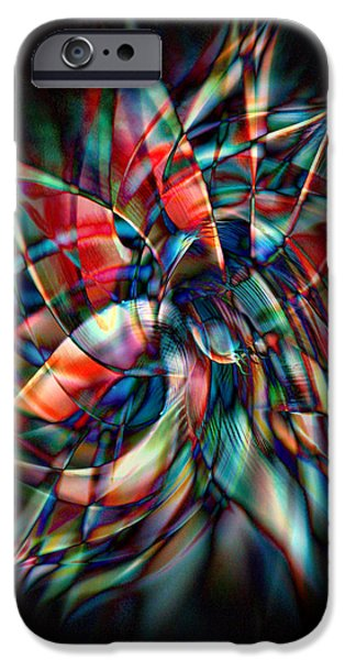 Energy Art Movement iPhone Cases - New Star iPhone Case by Linda Sannuti