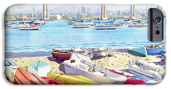 California Beach iPhone Cases - New Tidelands Park Coronado iPhone Case by Mary Helmreich
