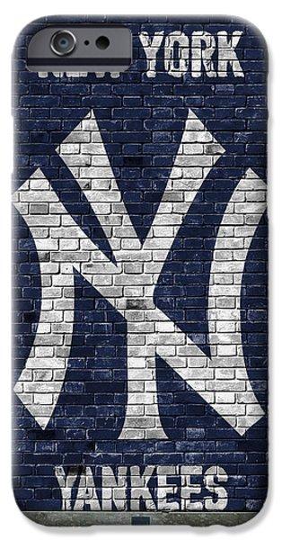 Bat iPhone 6 Case - New York Yankees Brick Wall by Joe Hamilton