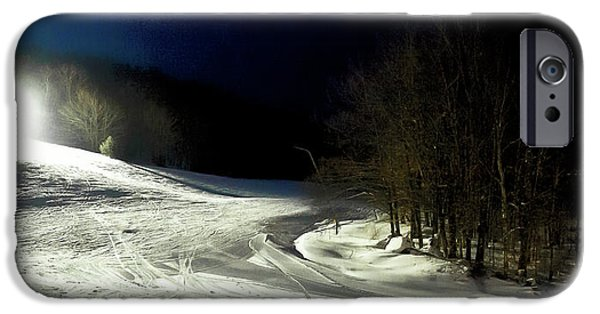 IPhone 6 Case featuring the photograph Night Skiing At Mccauley Mountain by David Patterson