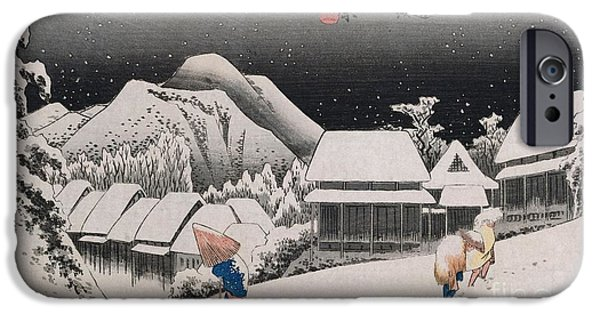 Series iPhone Cases - Night Snow iPhone Case by Hiroshige