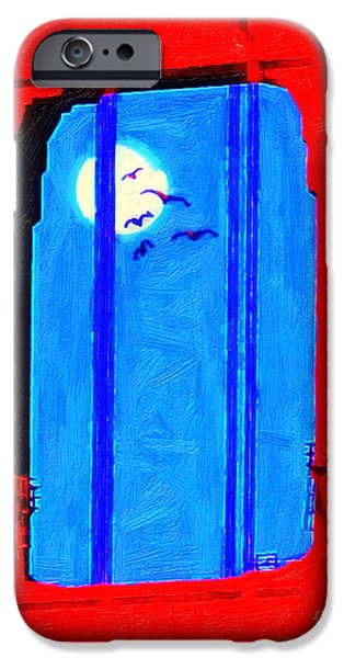 Bay Area Digital iPhone Cases - Nightfall Through The Golden Gate iPhone Case by Wingsdomain Art and Photography