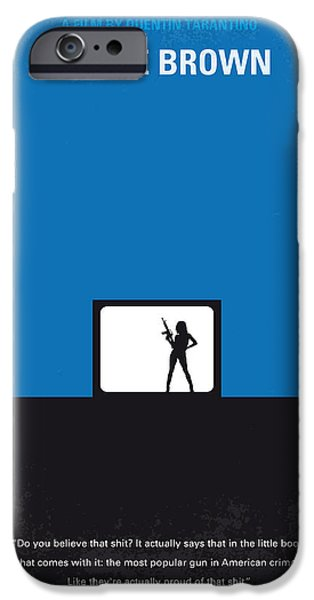 Brown iPhone 6 Case - No044 My Jackie Brown Minimal Movie Poster by Chungkong Art