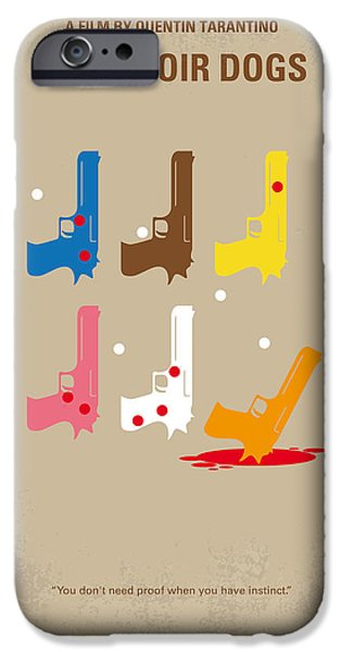 Brown iPhone 6 Case - No069 My Reservoir Dogs Minimal Movie Poster by Chungkong Art