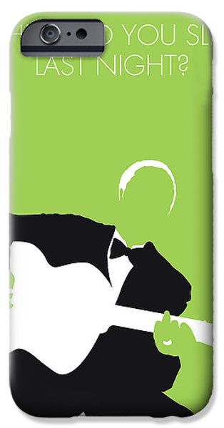 Folk Art iPhone 6 Case - No096 My Lead Belly Minimal Music Poster by Chungkong Art