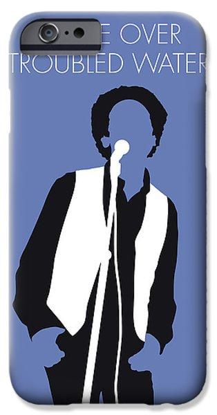 Folk Art iPhone 6 Case - No098 My Art Garfunkel Minimal Music Poster by Chungkong Art