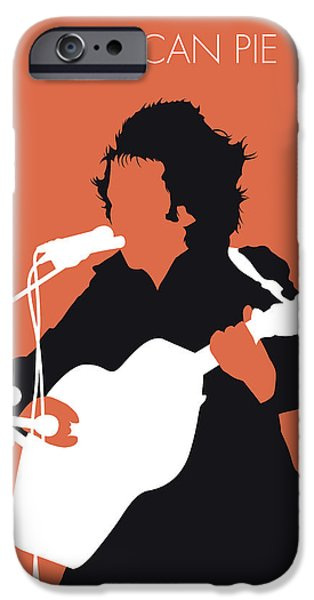 Folk Art iPhone 6 Case - No143 My Don Mclean Minimal Music Poster by Chungkong Art