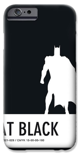 Superheroes iPhone 6 Case - No20 My Minimal Color Code Poster Batman by Chungkong Art