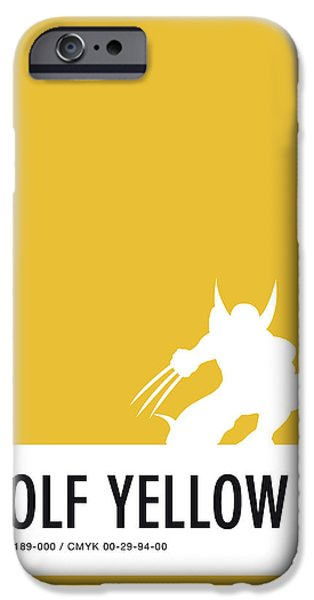 Superheroes iPhone 6 Case - No21 My Minimal Color Code Poster Wolverine by Chungkong Art