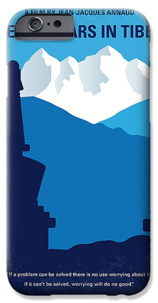 Buddhism iPhone 6 Case - No559 My Seven Years In Tibet Minimal Movie Poster by Chungkong Art