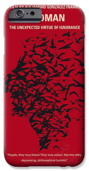 Superheroes iPhone 6 Case - No604 My Birdman Minimal Movie Poster by Chungkong Art