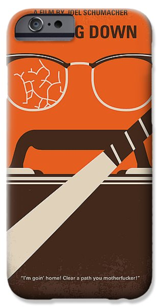 Bat iPhone 6 Case - No768 My Falling Down Minimal Movie Poster by Chungkong Art