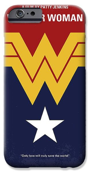 Superheroes iPhone 6 Case - No825 My Wonder Woman Minimal Movie Poster by Chungkong Art