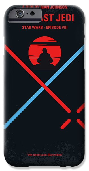 Yoda iPhone 6 Case - No940 My Star Wars Episode Viii The Last Jedi Minimal Movie Poster by Chungkong Art