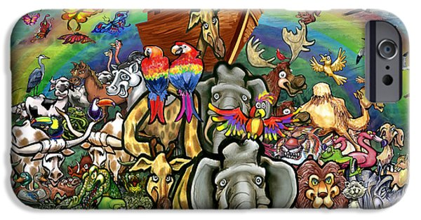 Noahs Ark Paintings iPhone Cases - Noahs Ark iPhone Case by Kevin Middleton