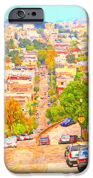 Bay Area Digital iPhone Cases - Noe Street San Francisco iPhone Case by Wingsdomain Art and Photography