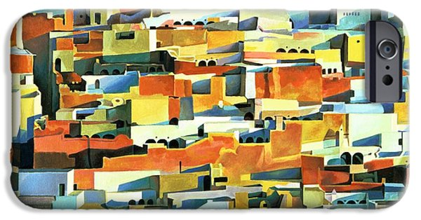 Northern Africa iPhone Cases - North African Townscape iPhone Case by Robert Tyndall