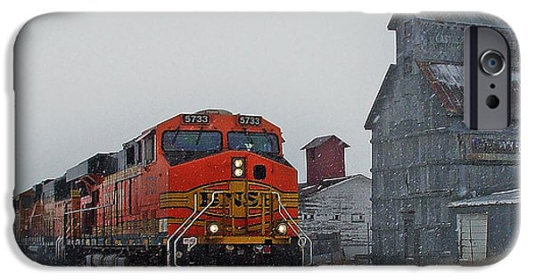 Joints iPhone Cases - Northbound Winter Coal Drag iPhone Case by Ken Smith