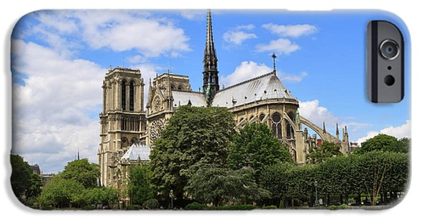 Notre Dame Cathedral iPhone Cases - Notre Dame Cathedral in Paris iPhone Case by Louise Heusinkveld