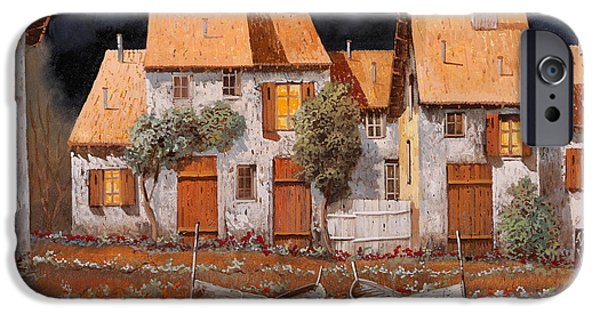Village iPhone 6 Case - Notte Di Luna Piena by Guido Borelli