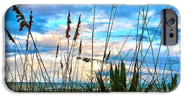 Susanne Van Hulst iPhone Cases - November Day at the Beach in Florida iPhone Case by Susanne Van Hulst