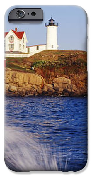 Nubble Lighthouse in Daylight iPhone Case by Jeremy Woodhouse