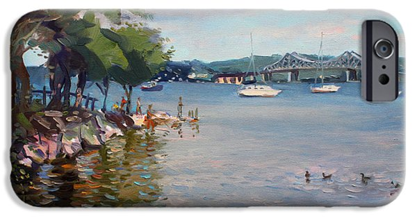River iPhone Cases - Nyack Park by Hudson River iPhone Case by Ylli Haruni