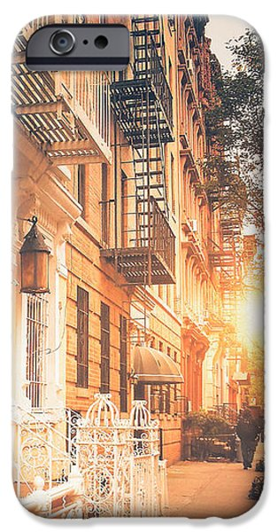 Village iPhone Cases - NYC Autumn iPhone Case by Vivienne Gucwa